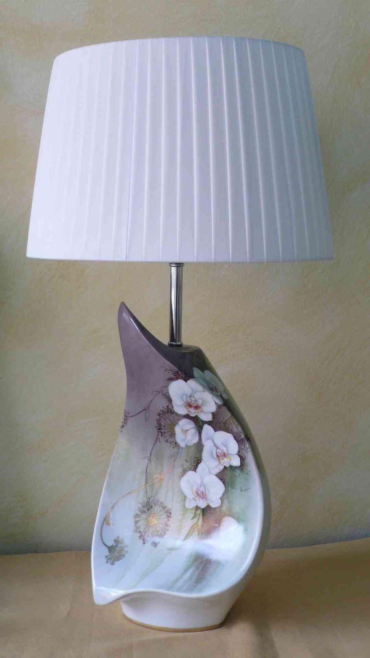 lampada con orchidee