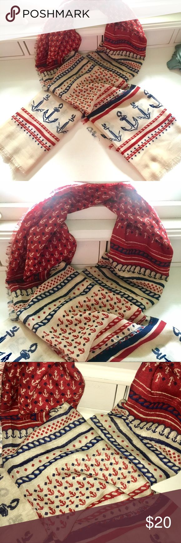 Anchor Scarf Brand new, never been worn! Accessories Scarves & Wraps
