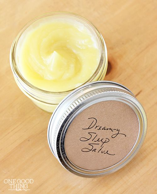 homemade sleep salve for better sleep (and soft feet) - great for when you're traveling and sleeping in an unfamiliar place