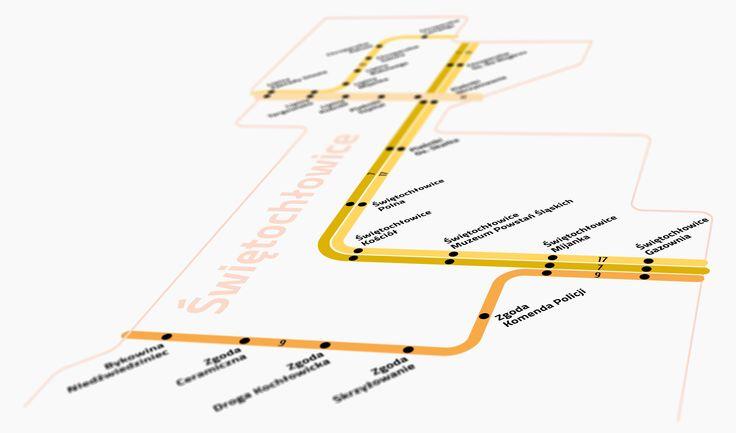 Tram lines in Świętochłowice