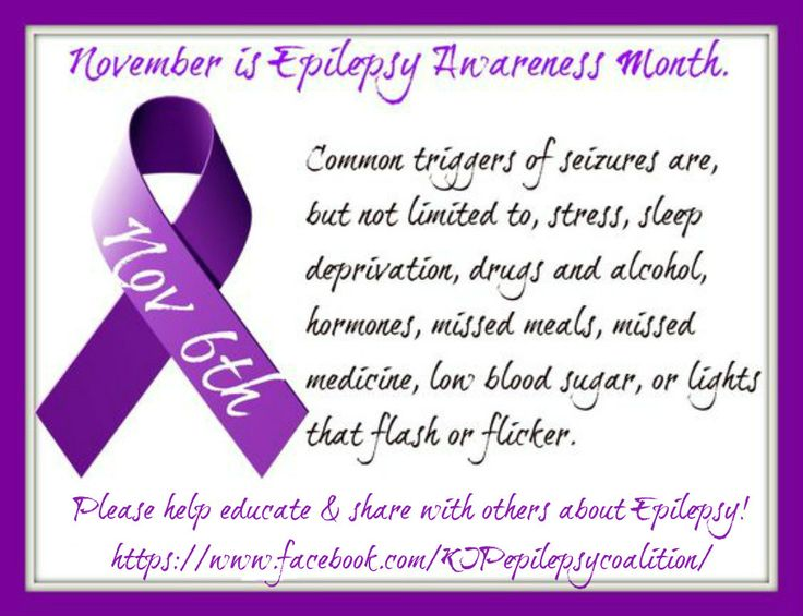 November is Epilepsy Awareness Month...because it matters. Here is our fact of the day for November 1st. Everyday there will be a new fact. Please ✓Like ✓Comment ✓Share to help spread Epilepsy Awareness .#epilepsy #epilepsyawareness  And for more Epilepsy Awareness and Support, please visit : ~ K.I.P Epilepsy Coalition Facebook Page - https://www.facebook.com/KIPepilepsycoalition/ ~ K.I.P Epilepsy Coalition Facebook Group – https://www.facebook.com/groups/kickinitpurple/ ~ K.I.P Epilepsy Co