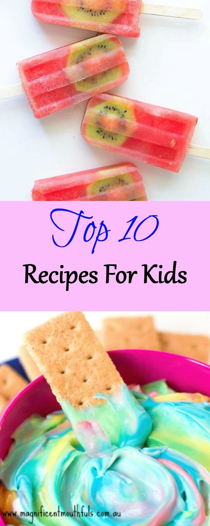 Top 10 Recipes For Kids | With school holidays upon us here in Australia, it's always handy to have a few activities to do with the kids. And it's even handier if you can kill two birds with one stone, and have an activity, and a snack at the same time! These recipes for kids are great ideas. | http://magnificentmouthfuls.com.au/2017/06/28/recipes-for-kids/