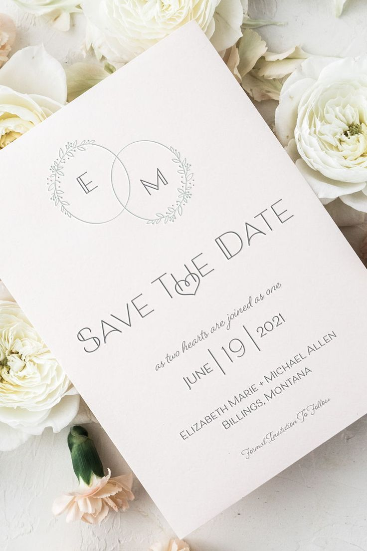 Wedding Save the Date WHITE Background Rock The Date Digital PDF or Printed Cards