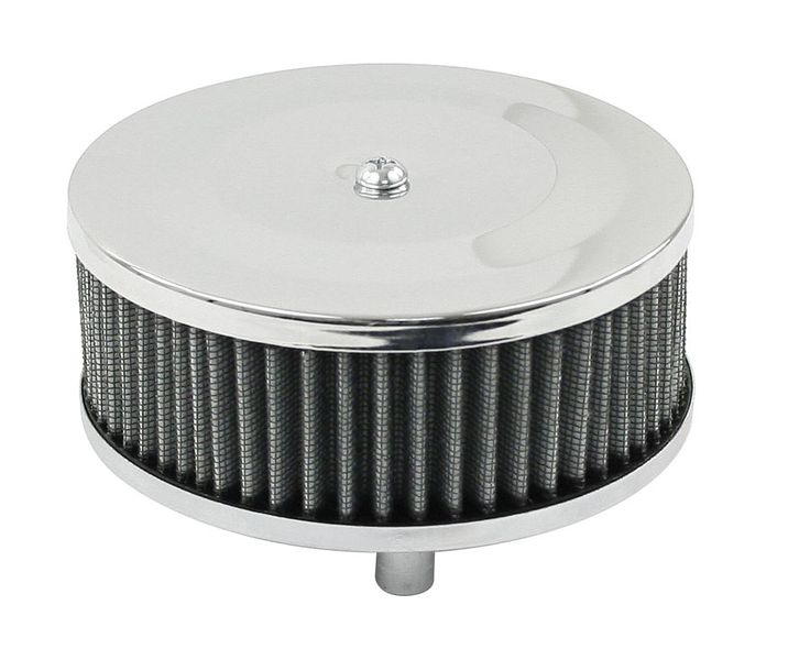 "New Air Filter ordered.  air filter chrome for Solex 2 1/16"" 5 1/2"" R x 2 1/8"" tall Empi"