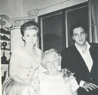 Ann-Margret with Elvis and a woman who may or may not be his or Ann's grandmother or a friend.  I don't know and did not caption this picture.