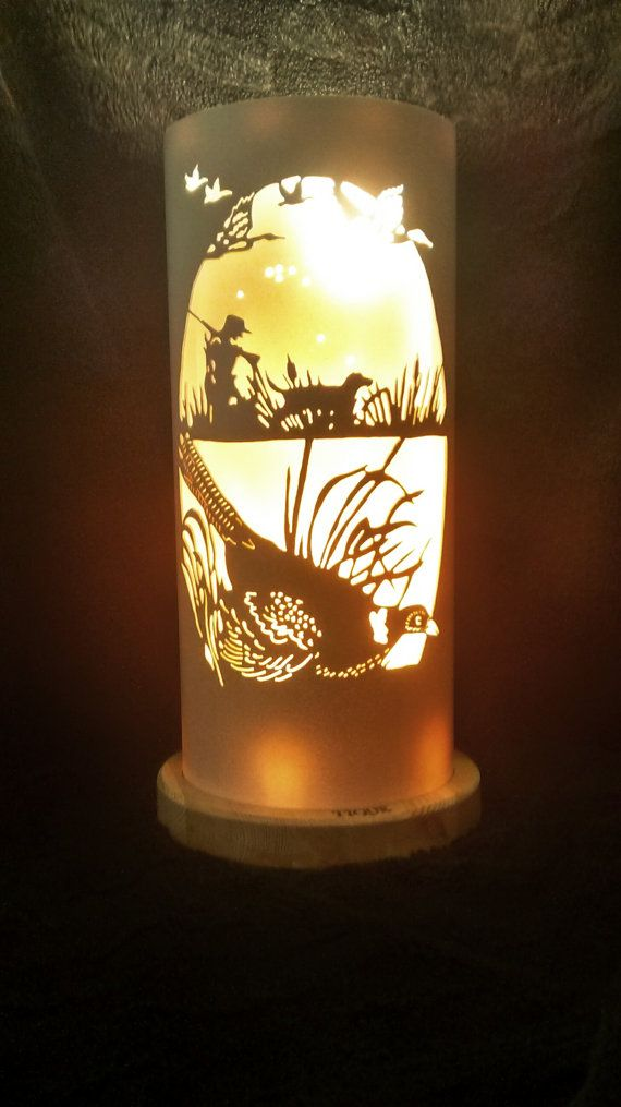 Pheasant and gundog pvc lamp by TIQUELIGHTS on Etsy