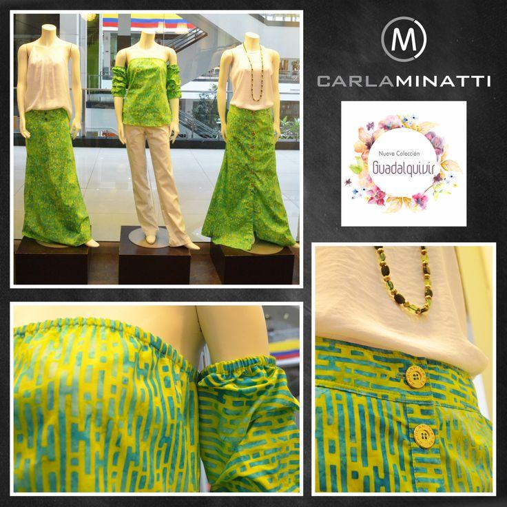 El color está en nuestro ADN como esta combinación de azul y verde en un sencillo estampado en batik.