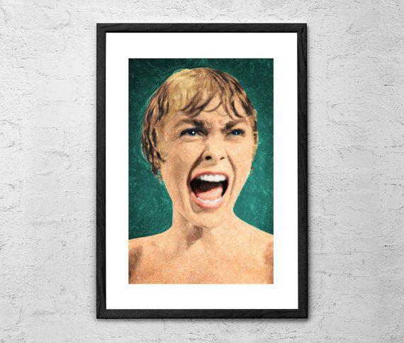 Psycho Shower Scene  Painting  Psycho  by TaylanSoyturkFineArt