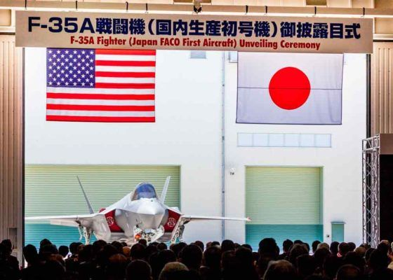 The first F-35 assembled in Japan was unveiled on June 5 at the Mitsubishi Heavy Industries plant in Komaki. Assembled by Mitsubishi with Lockheed Martin's technical assistance and US government control, 38 aircraft will leave the Japanese factory on the 42 F-35 ordered.