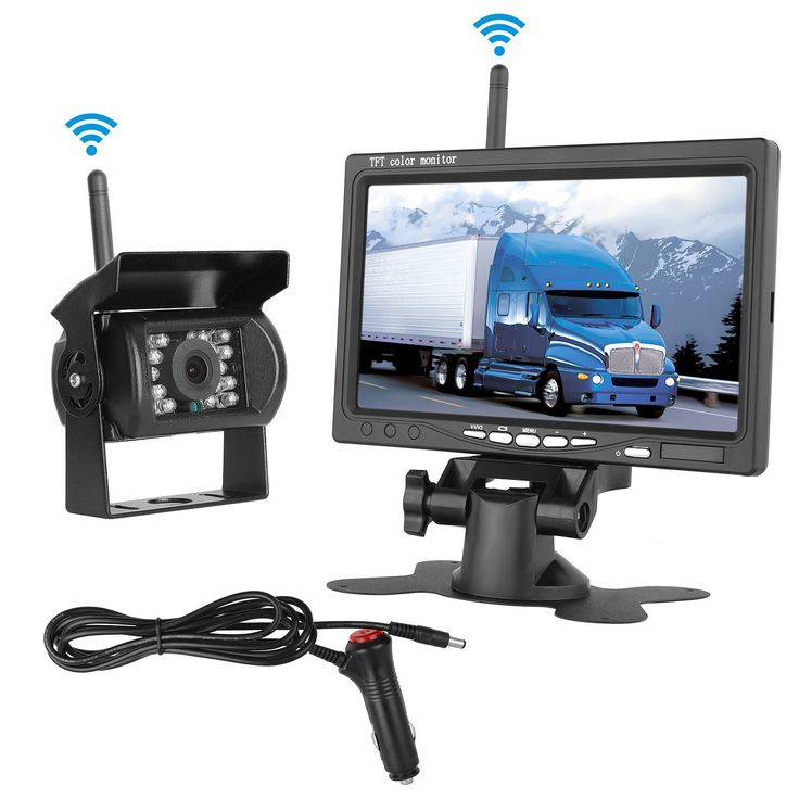 """DohonesBest Wireless Built in Backup Camera and 7"""" Monitor kit Rear View Camera with IR Night Vision Waterproof Parking Assistance System for RV Truck Trailer Camper Motorhome Bus"""