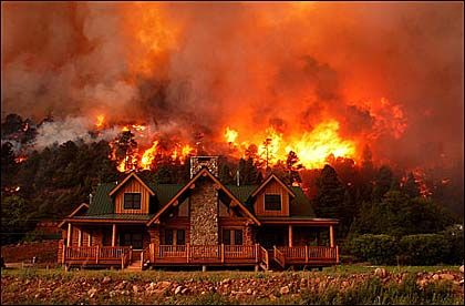 Barry Gutierrez for Rocky Mountain News, Colorado Wild Fires, 2003 Pulitzer Prize Winner for Breaking News Photography