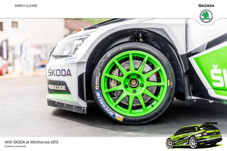 "Wörthersee Treffen 2015 is all about style and passion. Perfect opportunity to showcase awesome alloy wheels on ŠKODA cars!  18"" alloys - ŠKODA R5.  #SKODAWoertherse"
