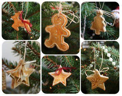 petits sujets de Noël en pâte à sel