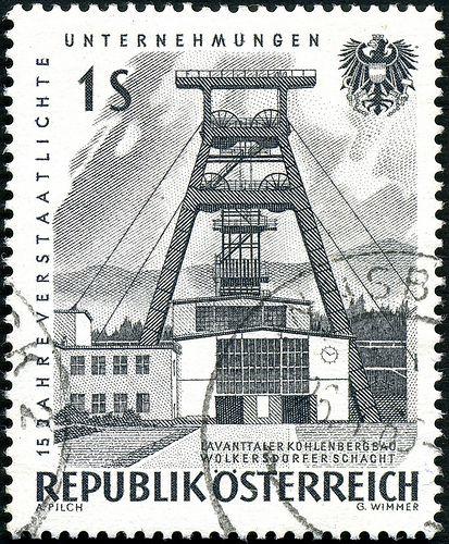 Austria - Minería de carbón