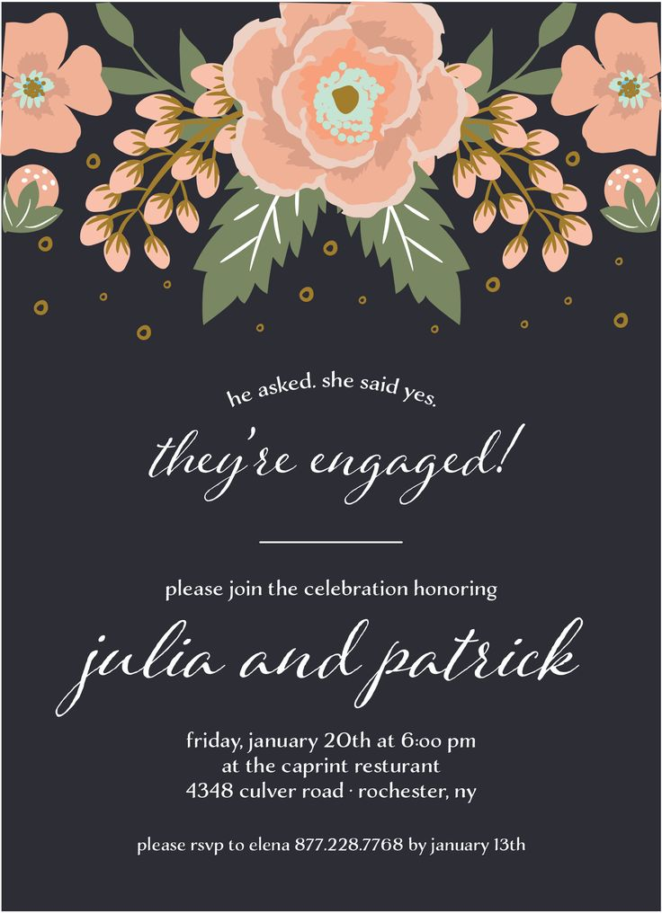 20 best Engagement Party images – Send Party Invitations