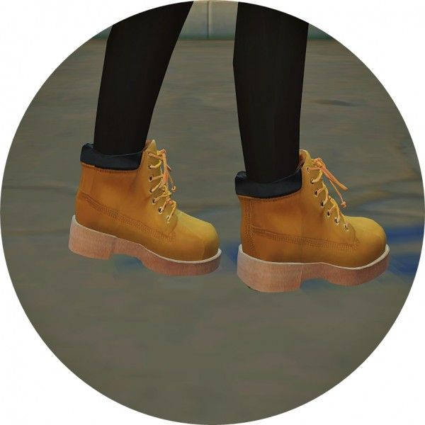 SIMS4 Marigold: Child Hiking Boots • Sims 4 Downloads