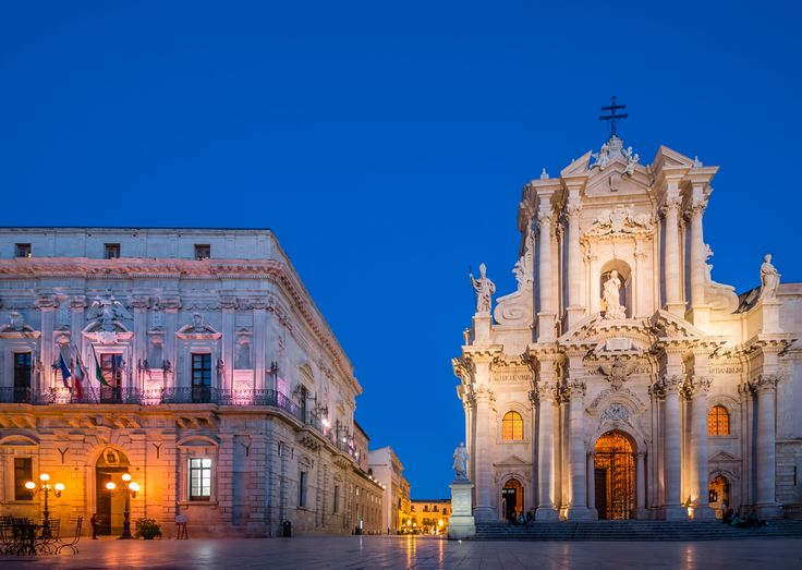 https://flic.kr/p/qfpHUe | ABM (Another Blue Monday)  / The cathedral of Siracusa, originally an ancient Greek temple |  Buy this photo on Getty Images : Getty Images  Facade of Ortygia cathedral (7th-17th century) and the town hall (Palazzo del Senato), Syracuse (UNESCO World Heritage List, 2005), Sicily, Italy.  Submitted 04/12/2014 Accepted 27/12/2014