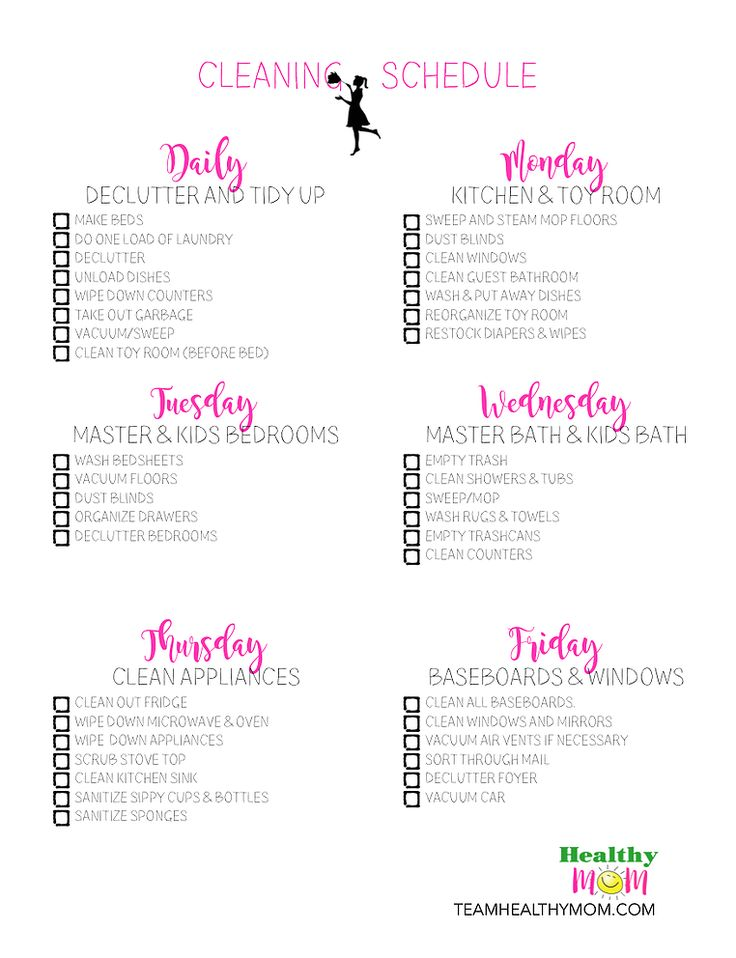 Best 25+ Home cleaning schedule printable ideas on Pinterest ...
