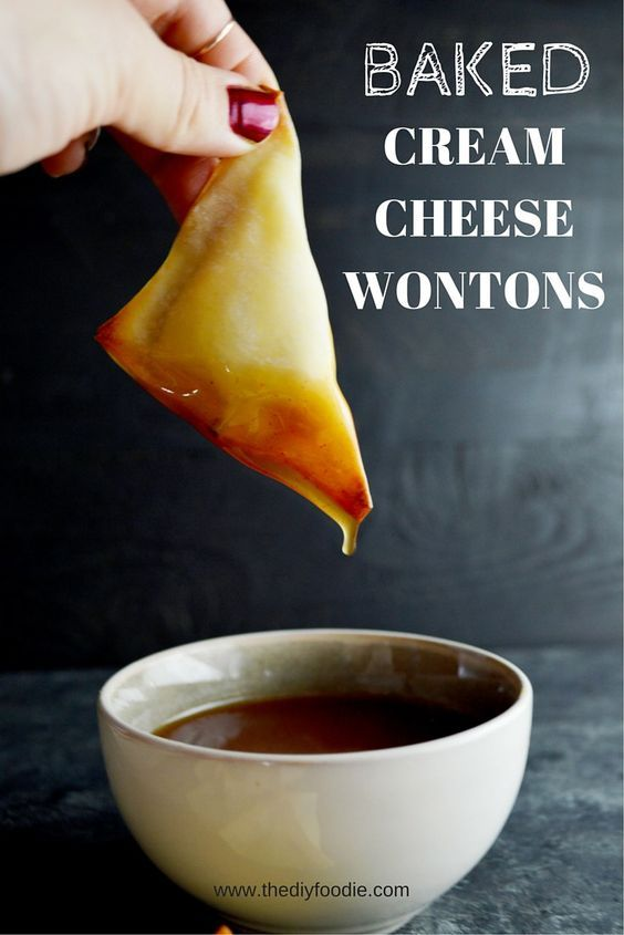 I am totally and completely in love with this baked cream cheese wontons. 4 ingredients. Less than 30 minutes. Need I say more?