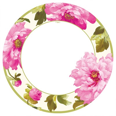 Fake china -Party Supplies: chloe pink dinner plates - pack of 8