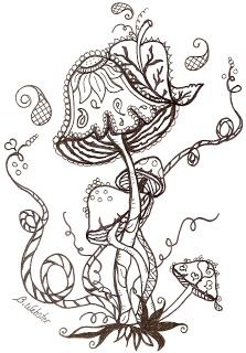 83 best Mushrooms Toadstools Coloring Pages for Adults images on