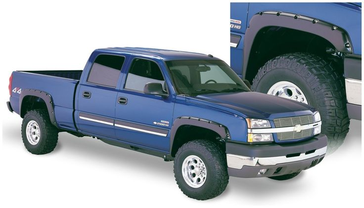 Bushwacker Pocket Style Fender Flares 03-06 Chevrolet Silverado Set of 4 Free Shipping Features - Designed to look great on stock trucks - Adds protection from debris - Durable ABS construction - UV p More