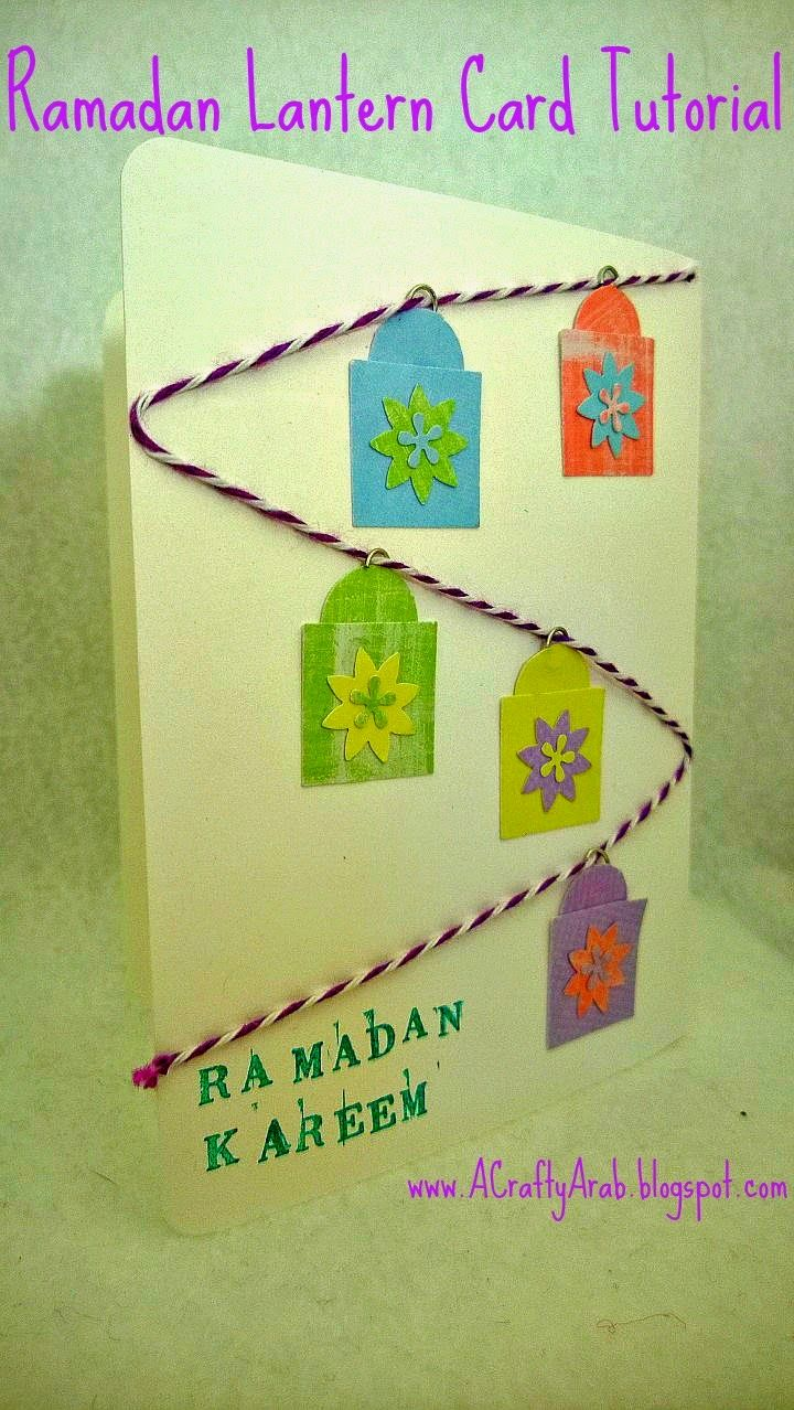 Ramadan Lantern Card Tutorial - Talk to your children about celebrating Ramadan and some of your traditions as you turn a few craft punches and a piece of twine into an Arabic alleyway full of lit lanterns. You can almost hear the vendors yelling to get your attention and smell the foods awaiting your tasebuds.