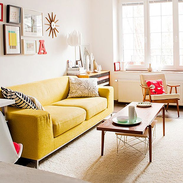 17 Best Ideas About Yellow Couch On Pinterest | Colourful Living