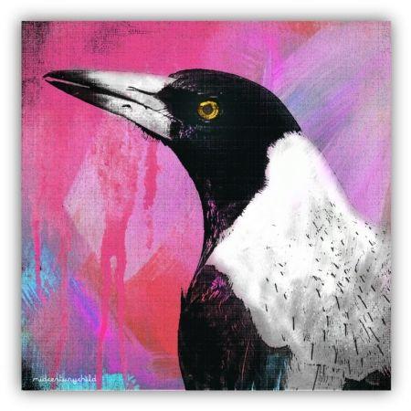 Colour smash magpie print - hardtofind.