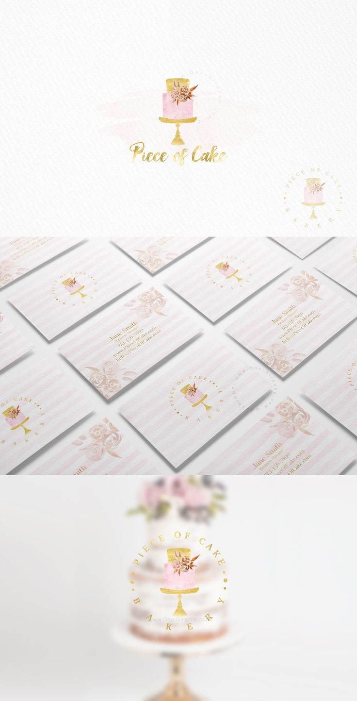 Custom Premade Logo Design with gorgeous watercolor cake & flowers would be perfect for your food blog, bakery cake company, online business or small business. http://one-giraphe.com/prev.php?c=216 #bakery #cake #cupcake #logo #logos #logodesign #bakery #customlogo #etsy #etsylogo #designer #graphicdesign #cute #sweet #watercolor #bakerylogo #cakelogo #needlogo
