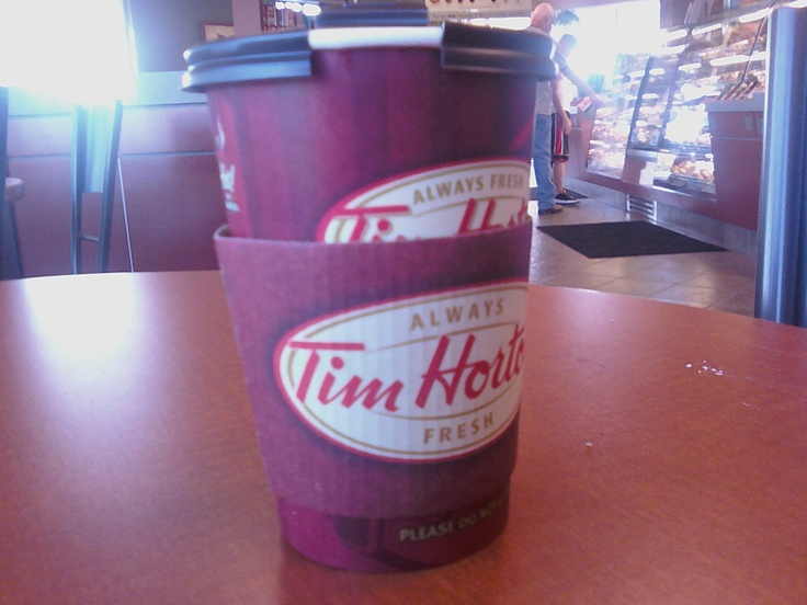 Tim's hot chocolate.. I'll definitely miss it when I leave