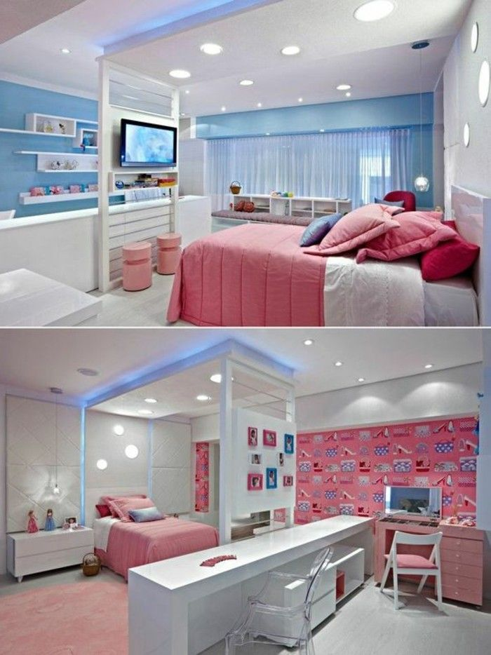 17 id es propos de d co chambre ado fille sur pinterest for Photo de lit pour fille