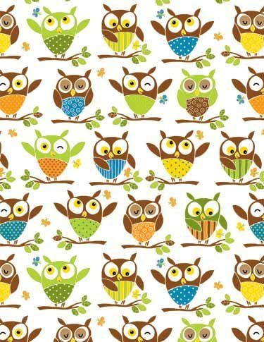 owl scrapbook paper | Zoo Animals Rolled Gift Wrap Paper