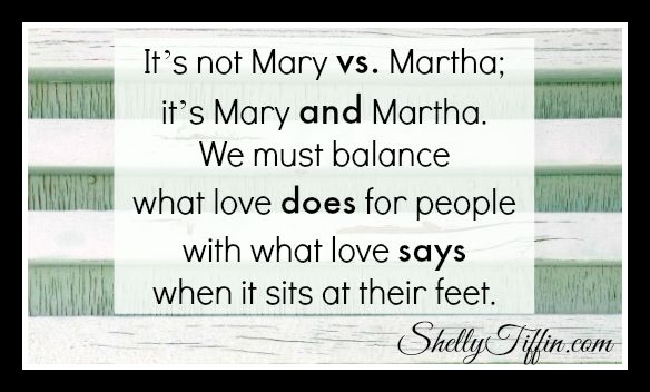 How many times have you read or heard the story of Mary and Martha and walked away feeling like you just got a scolding for being too much like Martha? I'm a doer. My love language is acts of service. I've struggled many times with the fact that God made me this way, but He seems to favor Mary in this story. On a mission trip last week, God decided to give me a very real Mary and Martha dilemma and validate the Martha in me. www.shellytiffin.com #Devotional #Christianity #Godsightings