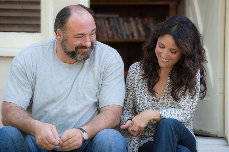 Romance movies for grownups:     Enough Said ﴾2013﴿:   This romantic comedy stars Julia Louis‐Dreyfus, James Gandolfini, Catherine Keener, Toni Collette and Ben Falcone. Louis‐Dreyfus plays Eva, a divorced masseuse who begins a relationship with Albert ﴾Gandolfini﴿, only to discover that he is the ex‐husband of her client, and friend, Marianne ﴾Keener﴿.
