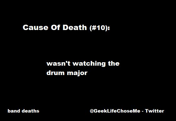 Band Death #10 @GeekLifeChoseMe