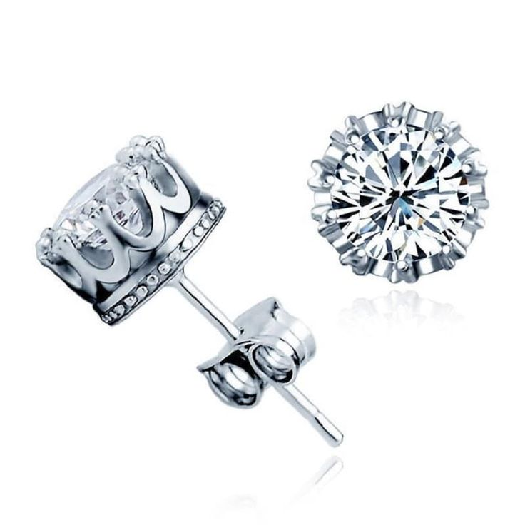 Platinum silver cubic zirconia earrings that shine like real diamonds! High quality zinc alloyplated with silver.   Available payment methods: