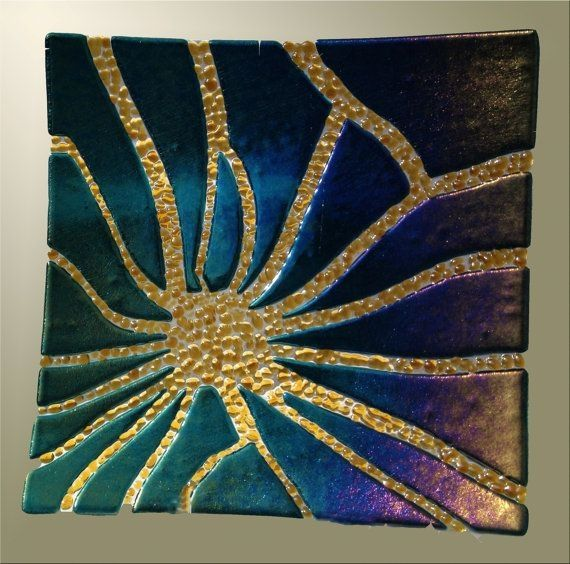 Fused Glass Dish in Iridized Teal by dawnsud on Etsy, $80.00 by stefanie