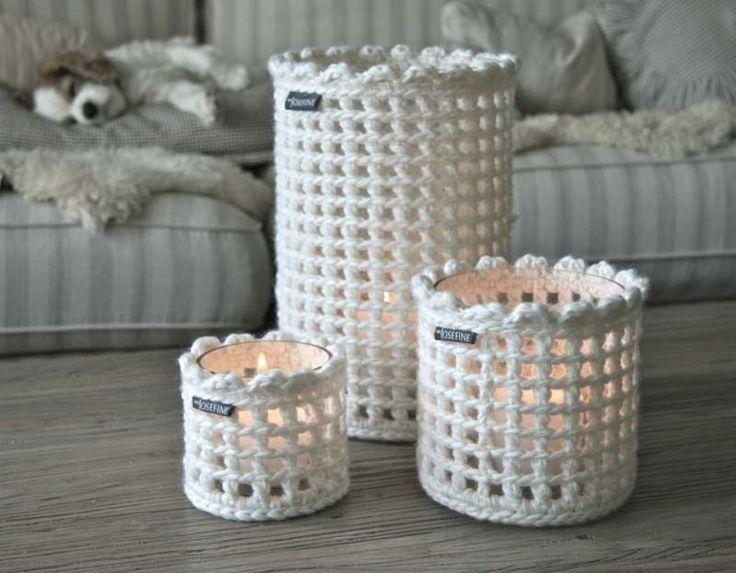 Crochet jar covers                                                                                                                                                      Mais