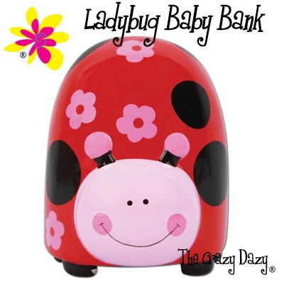 Baby Banks perfect for that new baby's ladybug room.  $5.99  www.thecrazydazy.com