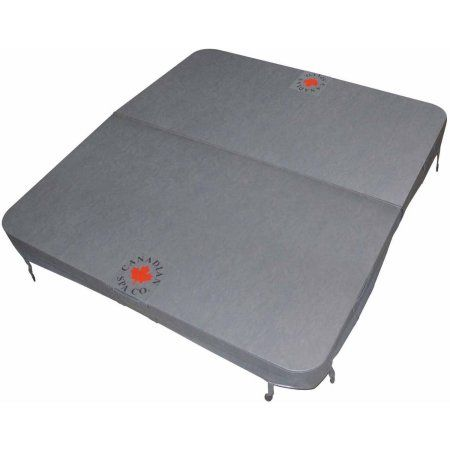 Canadian Spa Co. Rectangular Spa Cover with 5in x 3in Taper , 100in x 92in x 11in Radius, Grey, Gray