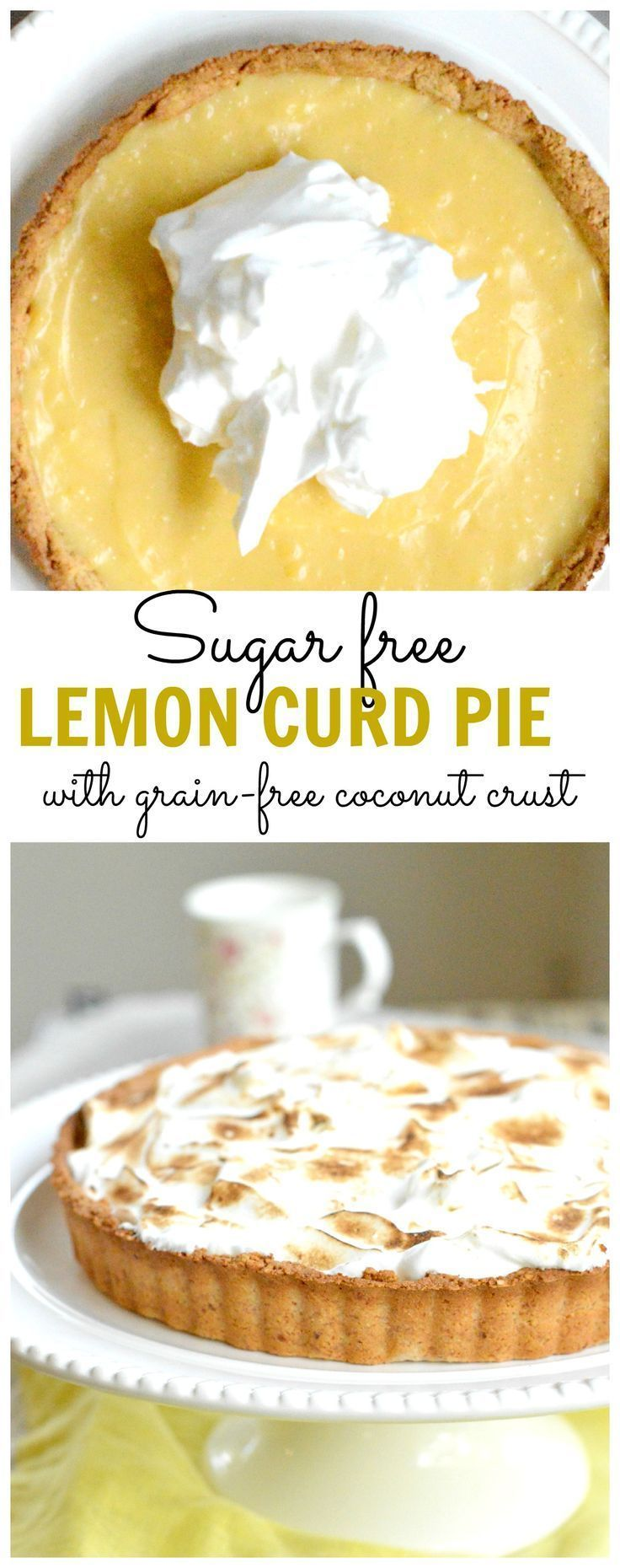 Diabetic dessert dream!!! A Sugar free lemon curd pie with sugar free meringue and grain free coconut crust.