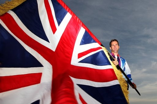 LONDON, ENGLAND - AUGUST 11: Olympic Gold medallist Ben Ainslie poses at Team GB House after he was announced as Team GB Olympic London 2012 closing ceremony flag bearer on August 11, 2012 in London, England.