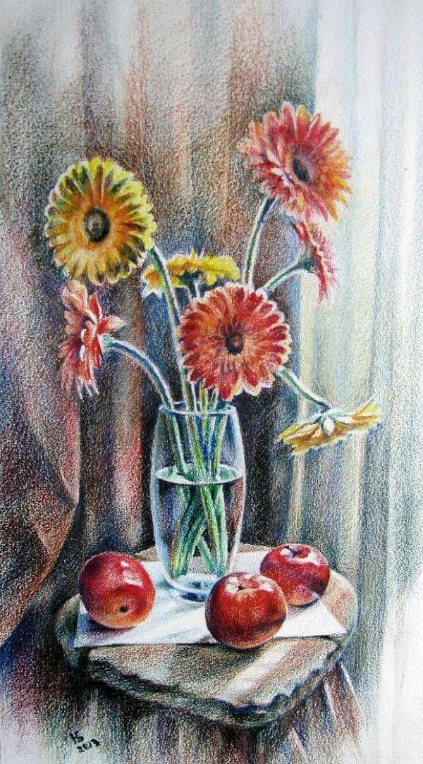 Рисунки цветными карандашами. Обсуждение на LiveInternet - Российский Сервис…