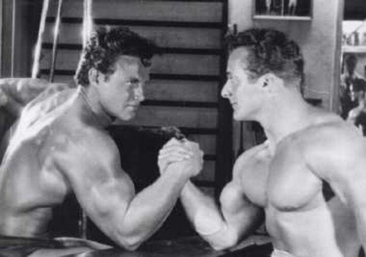 Steve Reeves arm wrestling George Eiferman | Armwrestling | Pinterest | Steve reeves and Wrestling