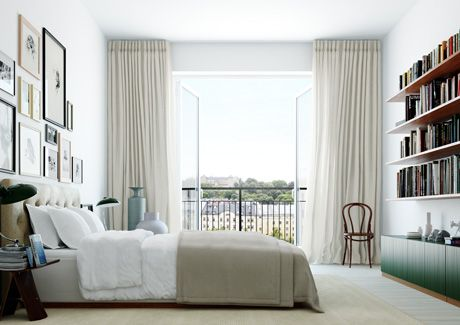 Oscar Properties : Biografen #oscarproperties  bedroom, bed, curtains
