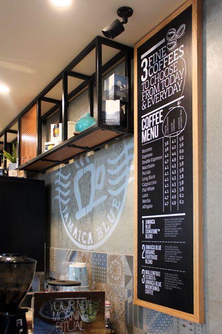 JAMAICA BLUE | Cafe & Restaurant Shop Fit Out at Halls Head & Harrisdale Mesh Tiles Powder Coat Framework
