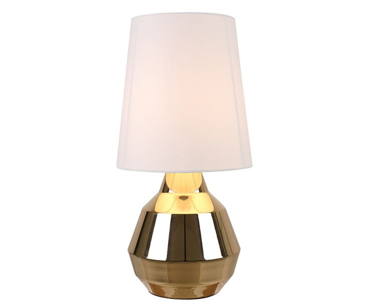 Geo Touch Lamp in Brass