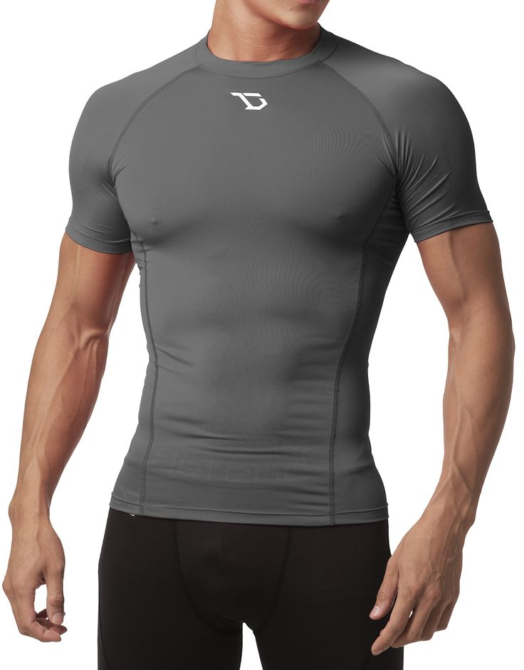 Defender Men's Cool Dry Compression Baselayer Quick Dry Running Shirt, Gray, XL. Polyester 92%, Spandex 8% - Smooth and Ultra-Soft Fabric that provides extreme comfort with very little weight without restriction - Machine Washable. Quick and Dry Transport System - Wicks Sweat away from the body, keeping you cooler and drier. Workout or Compete for all weather sports and activities - Cool in Summer and heat retention in winter. Compression fit bolsters muscle support and increases...