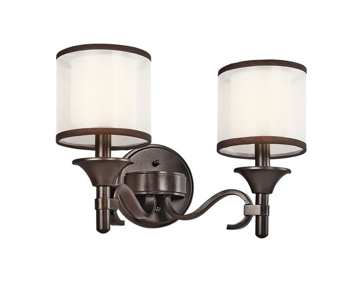 Lacey Collection 2 light Bath fixture in Mission Bronze